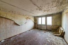 Zaniechany wnętrze w ruinach militarna ugoda Zdjęcie Royalty Free