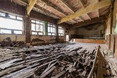 Zaniechany wnętrze w ruinach militarna ugoda Zdjęcie Stock