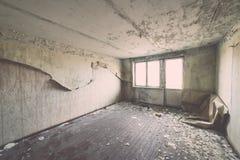 Zaniechany wnętrze w ruinach militarna ugoda - rocznika eff Obrazy Stock