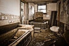 zaniechany zniszczony dom Zdjęcie Royalty Free