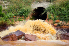 Zanieczyszczająca rzeka Obrazy Royalty Free