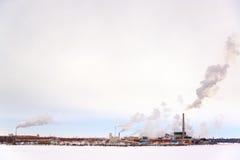 Zanieczyszczanie fabryka Obrazy Stock