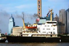 zanieczyszczenia bund Shanghai Fotografia Stock