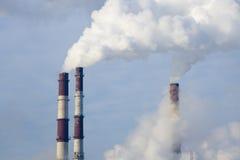 zanieczyszczenia globalny nagrzanie Zdjęcia Stock