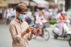Zanieczyszczenia powietrza pojęcie Fotografia Royalty Free