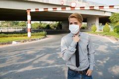 Zanieczyszczenia powietrza pojęcie Zdjęcie Royalty Free