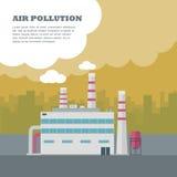 Zanieczyszczenia powietrza pojęcie Obrazy Royalty Free