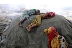 Zanieczyszczenia przy Hazaribagh garbarnią Bangladesz Obraz Royalty Free