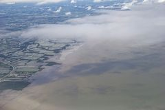 Zanieczyszczenia w morze. Obrazy Royalty Free