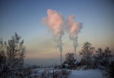 Zanieczyszczenie środowisko przemysłem ciężkim zdjęcia royalty free