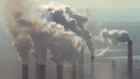 Zanieczyszczenie atmosfera przemysłowym przedsięwzięciem metalurgiczny przemysł zdjęcie wideo