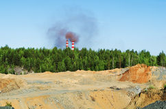 Zanieczyszczenie i otrucie środowisko Zdjęcia Stock