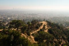 Zanieczyszczenie na Los Angeles w zima sezonie Zdjęcie Royalty Free