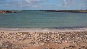 Zanieczyszczenie na plaży zbiory