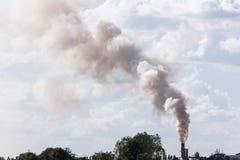 Zanieczyszczenie od dymu i kontrpary Fotografia Stock