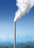 Zanieczyszczenie od fabryki Zdjęcie Stock