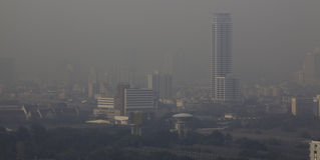 zanieczyszczenie powietrza Zdjęcia Stock