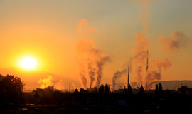 Zanieczyszczenie powietrza Obrazy Royalty Free