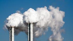 Zanieczyszczenie powietrza elektrownia Obraz Stock