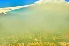 Zanieczyszczenie powietrza Guangzhou Chiny Zdjęcie Stock