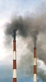 Zanieczyszczenie powietrza od dymnej sterty Fotografia Stock
