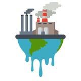 Zanieczyszczenie Powietrza pejzaż miejski royalty ilustracja