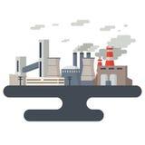 Zanieczyszczenie Powietrza pejzaż miejski ilustracja wektor