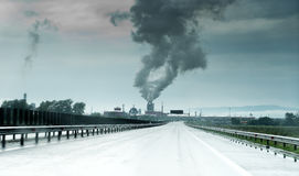 Zanieczyszczenie powietrza Rumunia Zdjęcia Royalty Free