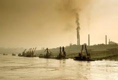 Zanieczyszczenie powietrza tematu obrazek Fotografia Royalty Free
