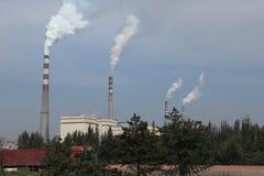 Zanieczyszczenie Powietrza w Chiny Obraz Stock
