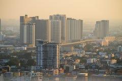 Zanieczyszczenie powietrza w mieście Zdjęcia Stock