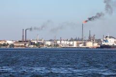 zanieczyszczenie rafineria Zdjęcie Stock