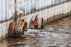 Zanieczyszczenie rezerwuar, problem związany z ochroną środowiska Obrazy Royalty Free