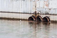 Zanieczyszczenie rezerwuar, problem związany z ochroną środowiska Obraz Stock
