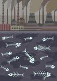 zanieczyszczenie zielona nutowa woda Obrazy Royalty Free