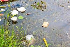 Zanieczyszczona woda Obrazy Stock