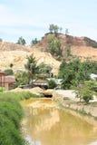 Zanieczyszczona Woda kanał w Sorong zdjęcia stock