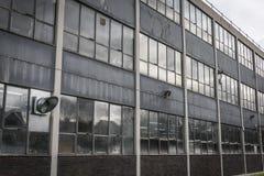 Zaniedbana 1970's projekta fabryki jednostka Fotografia Stock