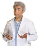 Zaniepokojona lekarka Zdjęcie Stock
