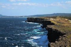 Zanpa Cliff royalty free stock photography