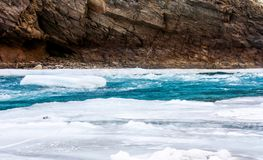zanskar冻结的河 减去程度温度 ladakh 印度 库存图片