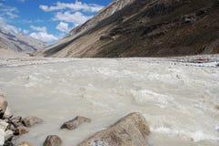 zanskar的河 库存图片