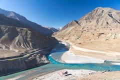 Zanskar Blue River. This is Zanskar river where is in Leh,Ladak,India Stock Photos