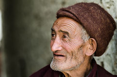 ZANSKAR, INDE - 15 JUILLET 2015 : Mysti de attente de lama sans titre Image libre de droits