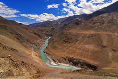 Zanskar river, Ladakh, Jammu and Kashmir, India Stock Photos