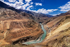 Zanskar river, Ladakh, Jammu and Kashmir, India Royalty Free Stock Photos