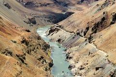 Zanskar river, Ladakh, Jammu and Kashmir, India Royalty Free Stock Photography