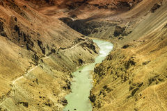 Zanskar river, Ladakh, Jammu and Kashmir, India Stock Photo