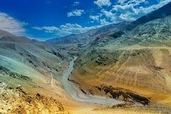 Zanskarrivier - Leh, Ladakh, India Stock Afbeeldingen