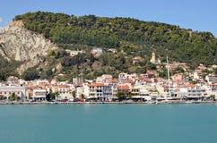 Zante miasta port obrazy stock